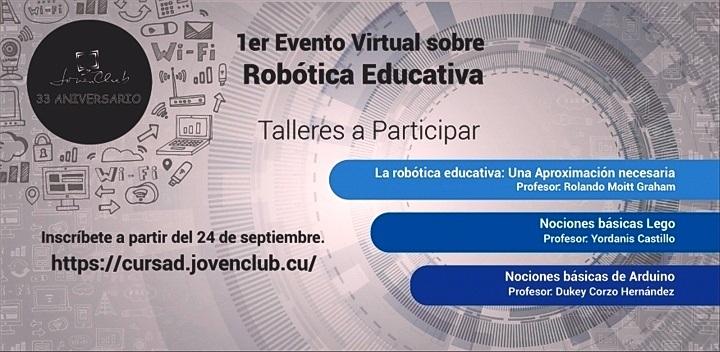 Por primera vez curso de Robótica Educativa