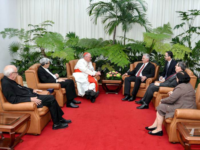 Diaz-Canel considers cordial and honest conversations with US Cardinal Dolan