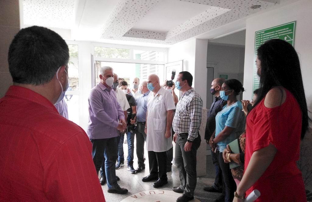 Reconoce Presidente cubano resultados de los matanceros en el enfrentamiento a la Covid-19