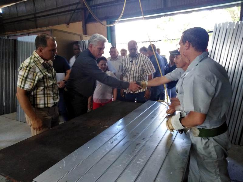 Reconoce Díaz-Canel desarrollo local en Las Tunas