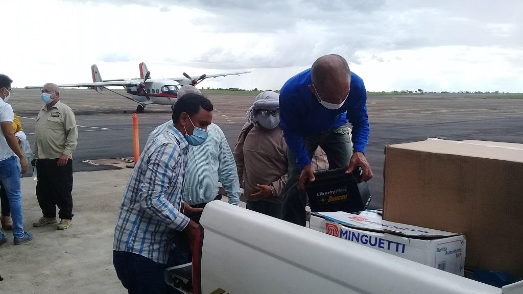 Entrega donativo Misión de Cuba en el estado venezolano de Bolívar