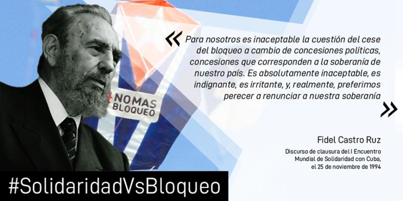 Encuentro internacional Solidaridad contra Bloqueoc