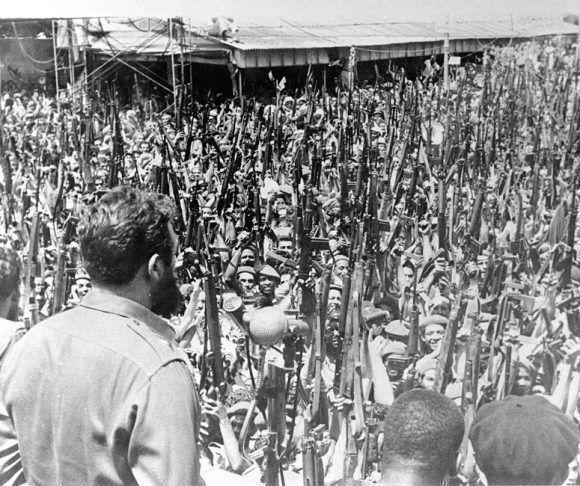 Fidel Castro el 16 de Abril de 1961