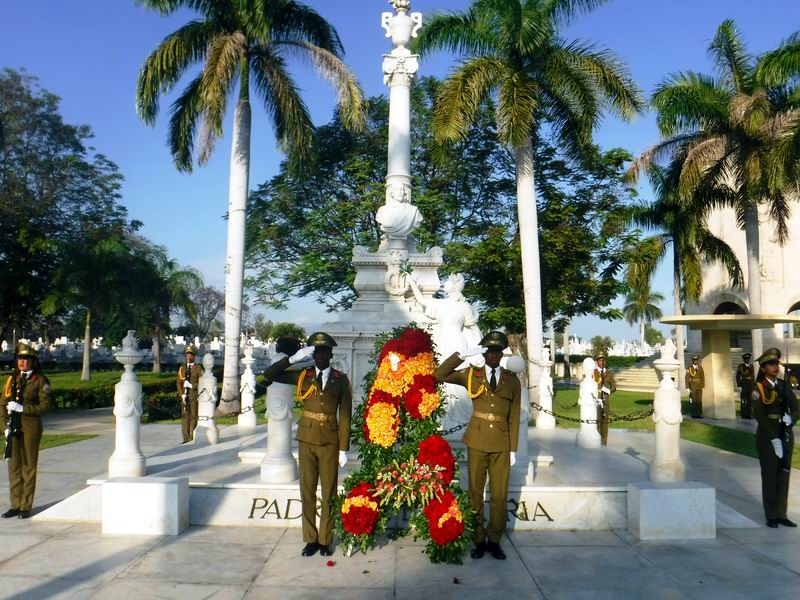Homenaje en Santiago de Cuba a Carlos Manuel de Céspedes