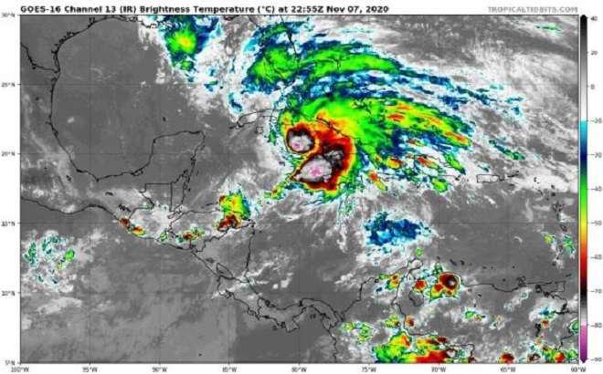 Eta provoca lluvias intensas en casi todo el territorio cubano
