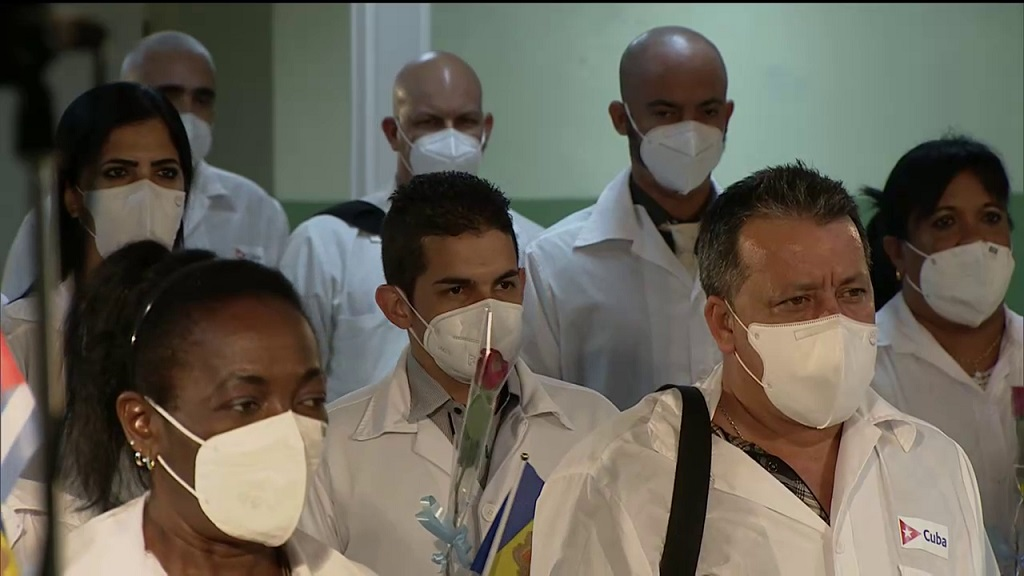 En la Patria, Brigada Médica Cubana que enfrentó la COVID-19 en Andorra