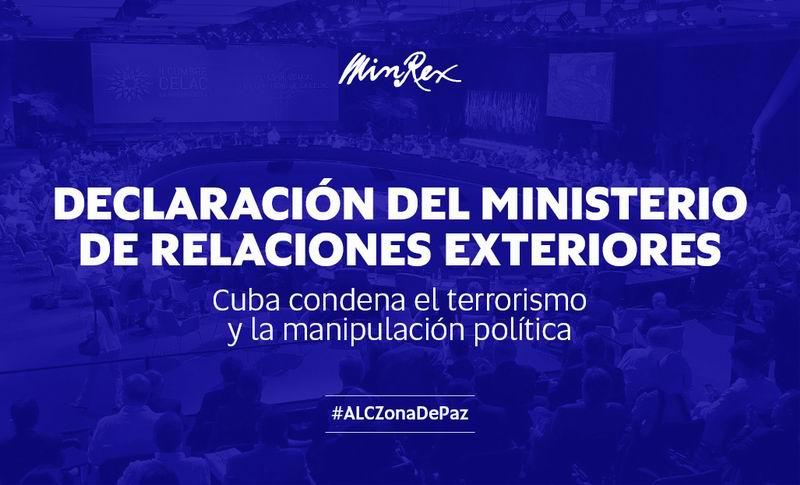 El Ministerio de Relaciones Exteriores de Cuba rechaza la inclusión de la isla en una lista del Departamento de Estado de los Estados Unidos de países que no cooperan contra el terrorismo