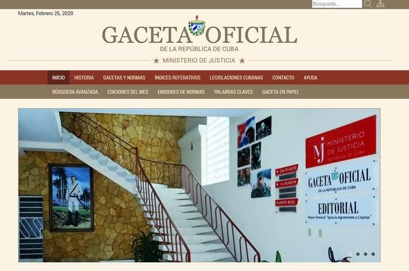 Inaugura Gaceta Oficial de Cuba página web con nuevas prestaciones