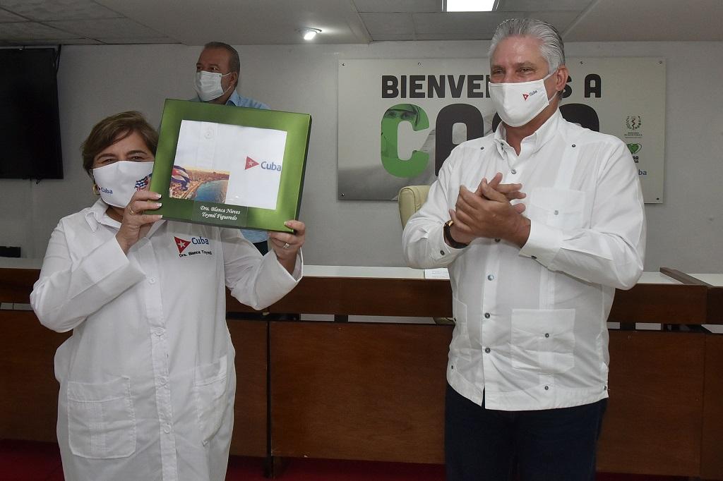 Díaz-Canel: ¨Ustedes le han enseñado al mundo el valor de la solidaridad cuando se lucha por salvar vidas¨ (+Audio)