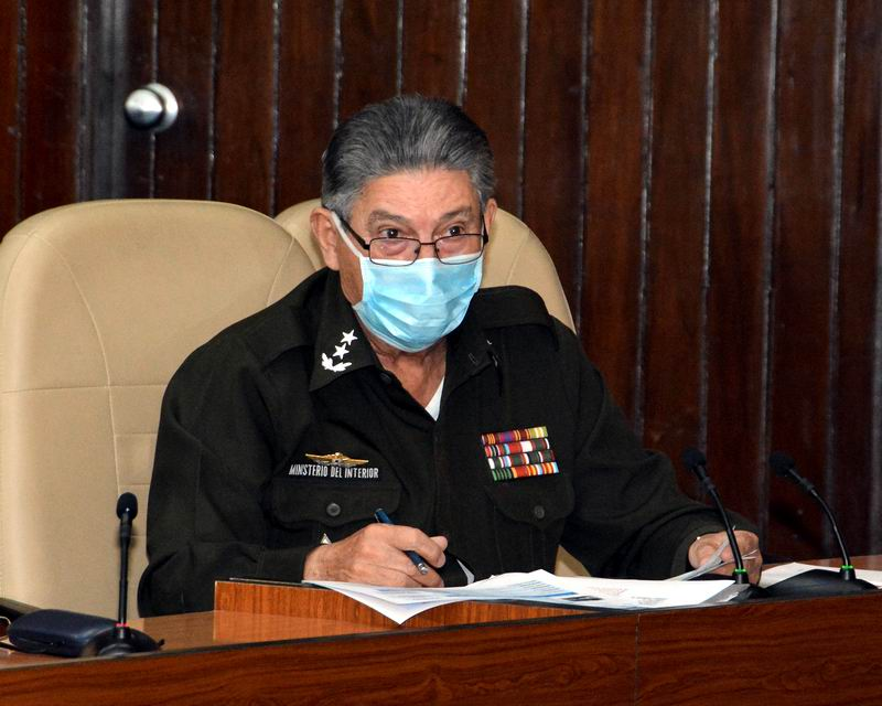 Ttitular del Interior, Vicealmirante, Julio César Gandarilla Bermejo