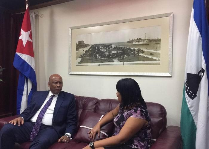 King of Lesotho arrives in Cuba