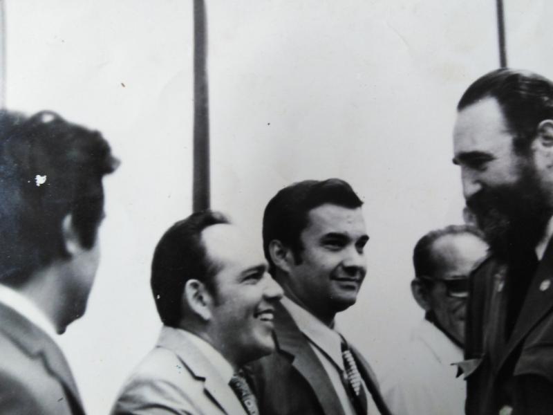 Mastrapa Pérez junto a Fidel Castro