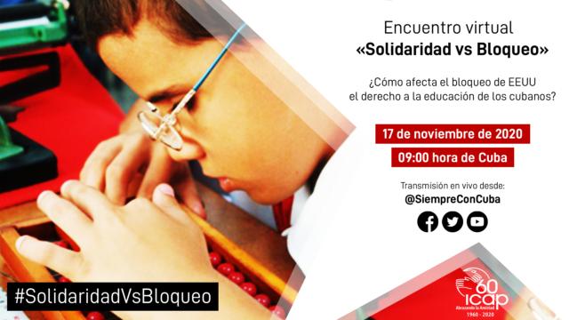 Este martes, Foro internacional online contra el bloqueo