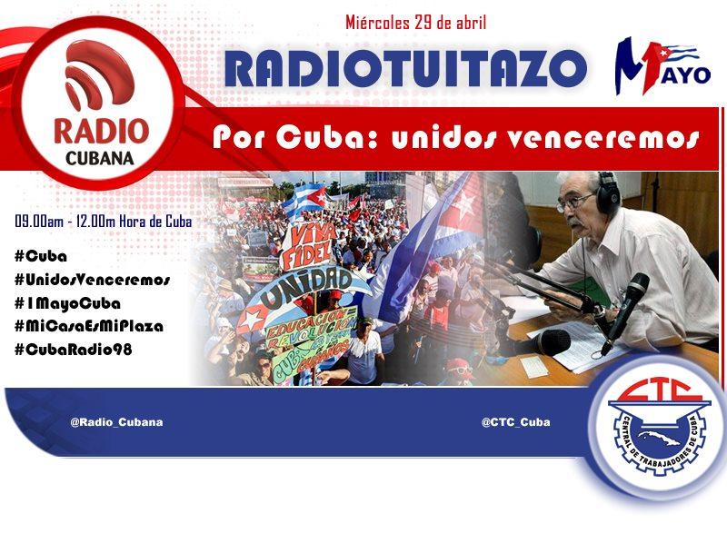 """Radiotuitazo """"Por Cuba: unidos venceremos"""""""