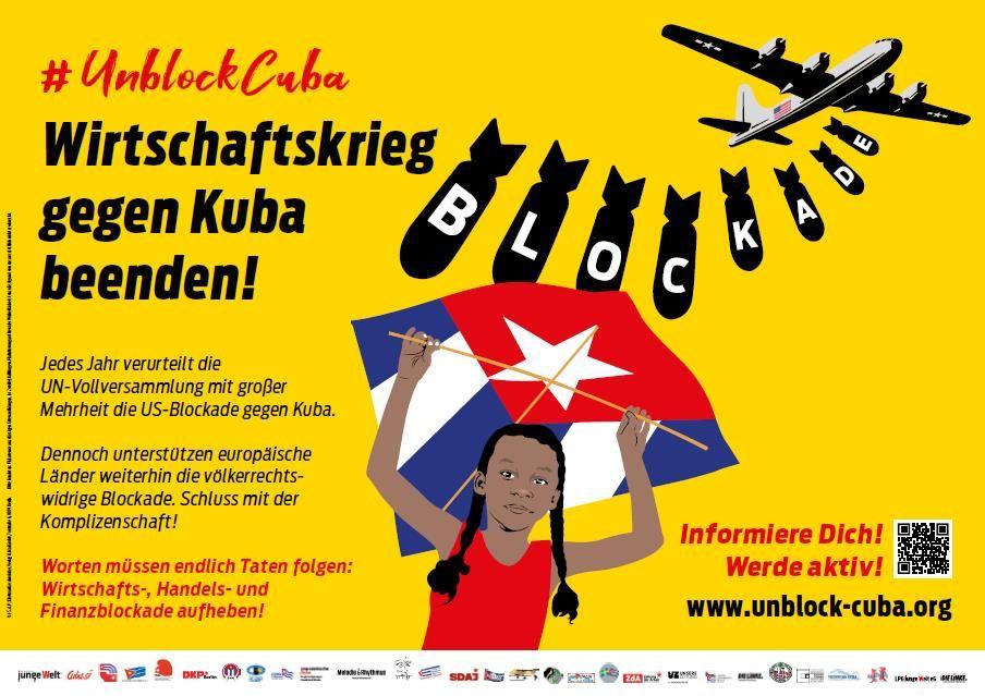 Un sábado de solidaridad internacional contra el Bloqueo