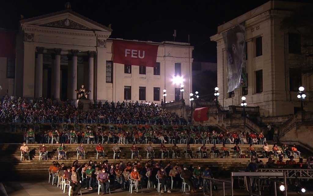 Evocación a Fidel: Velada político-cultural en la escalinata de la Universidad de La Habana (+Audio)
