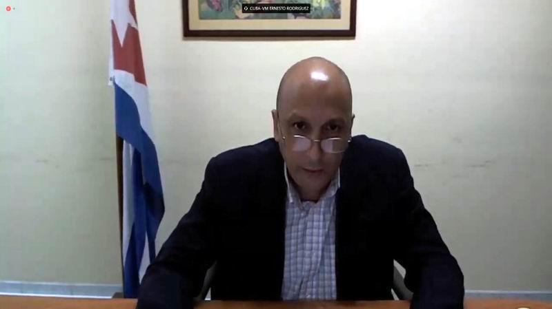 El viceministro de Comunicaciones de Cuba, Ernesto Rodríguez, abogó por el uso eficiente de las Tecnologías de la Información para hacer frente a la pandemia de Covid-19