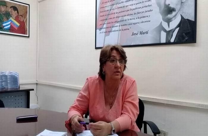 Presidenta del Consejo Electoral Nacional de Cuba, Alina Balseiro