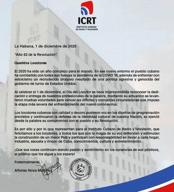 Presidente del ICRT felicita a locutores en su día