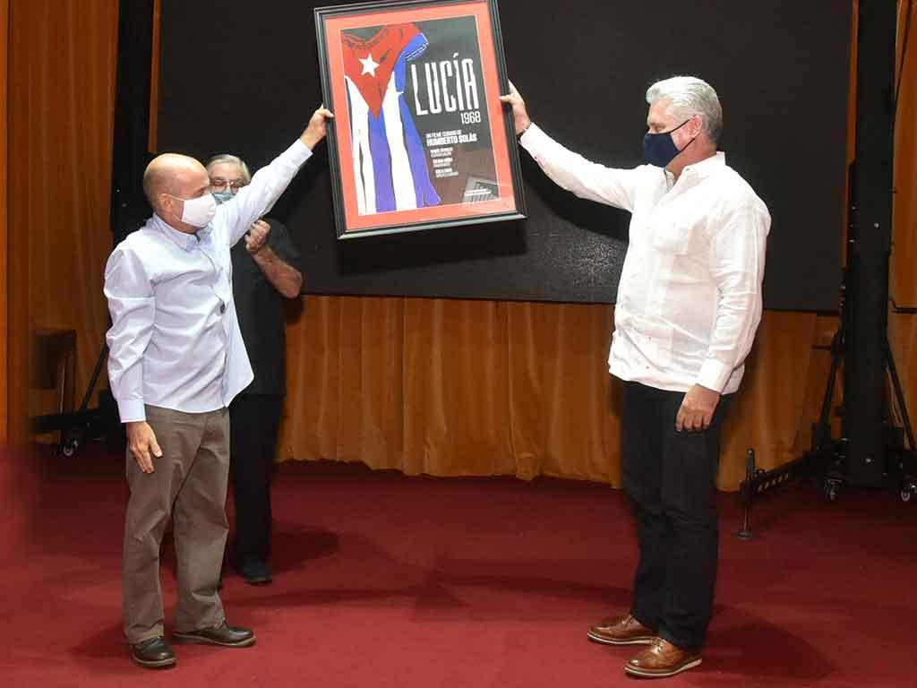 Asiste Díaz-Canel a ceremonia de inauguración de la nueva sede de la Cinemateca de Cuba (+Audio)