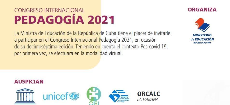 Congreso Internacional Pedagogía 2021, por primera vez de manera virtual