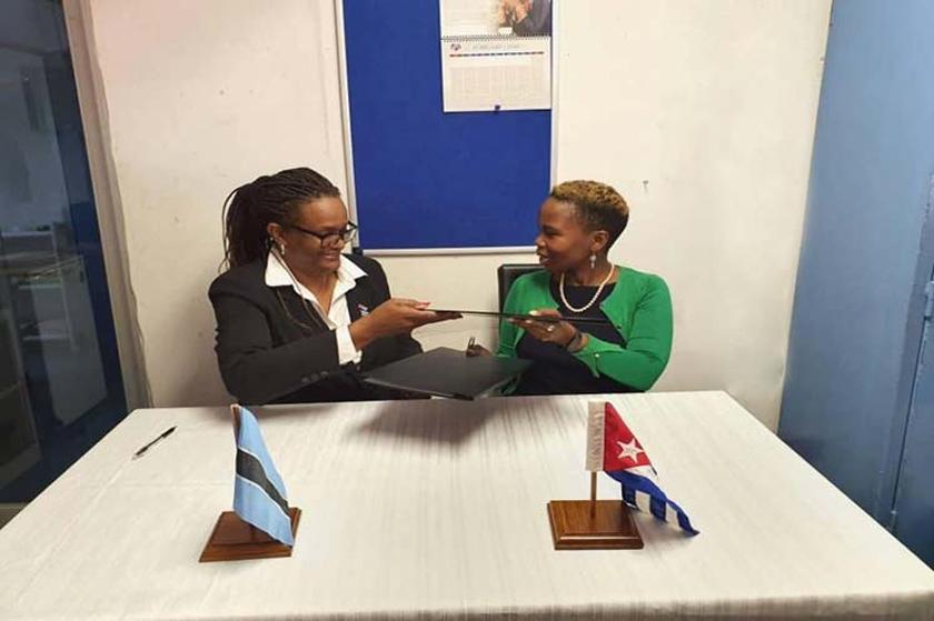 Cuba and Botswana sign education agreement