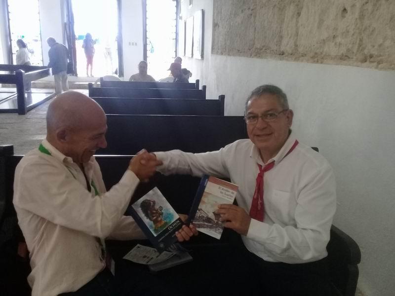 LOM Ediciones de Santiago de Chile, presentó en la fortaleza de San Carlos de la Cabaña la novela Ochún camina sola bajo la lluvia