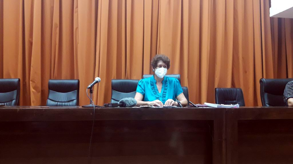 Ministra de Educación, Ena Elsa Velázquez Cobiella.