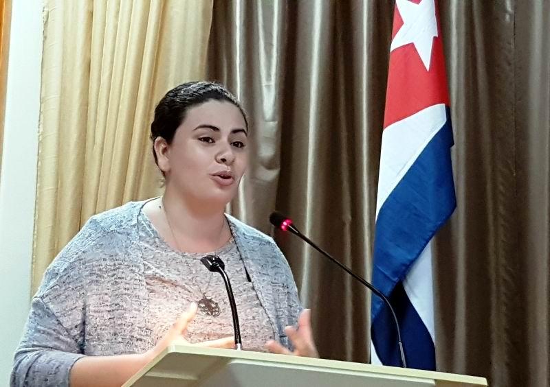 Especialista de la Oficina del Programa Juvenil Martiano, Lil María Pichs