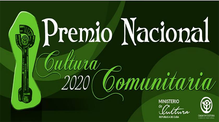 Otorgan Premio Nacional de Cultura Comunitaria 2020