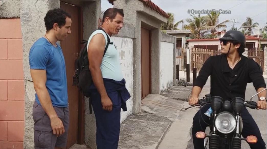 Fotograma de la telenovela cubana El rostro de los días.