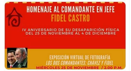 Homenaje a Fidel desde la Casa del Alba