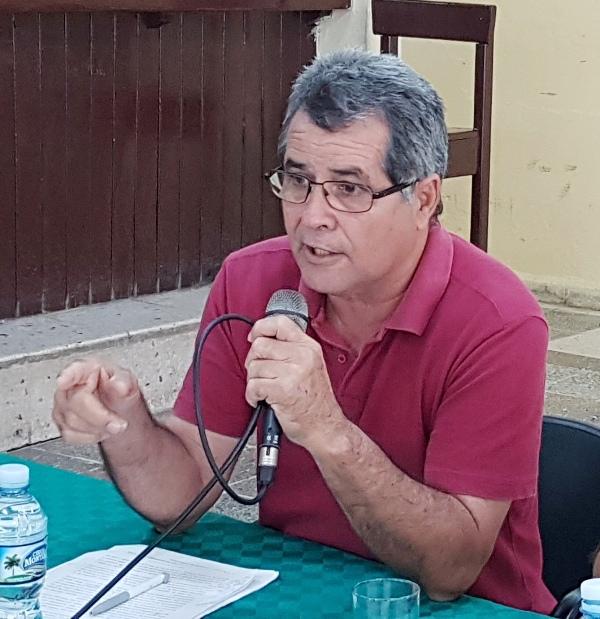 Presidente filial UNHIC Camagüey, Ricardo Muñoz.