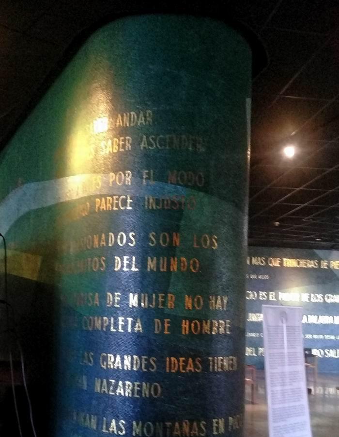 89 pensamientos o frases de nuestro Héroe Nacional que podemos leer al visitar el Memorial José Martí, enclavado en la Plaza de la Revolución