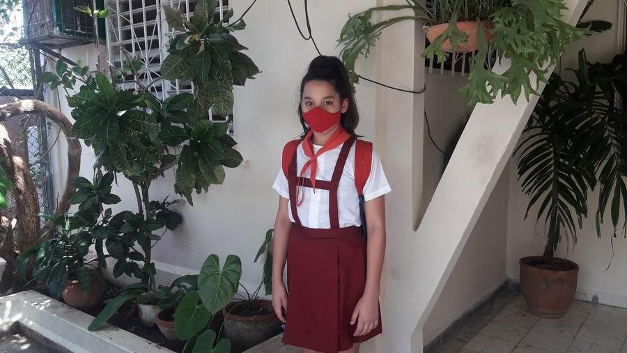 Estudiante Yuliet Rodríguez Roque de la Escuela Primaria Carmelo Noa Gil, ubicada en Guanabacoa
