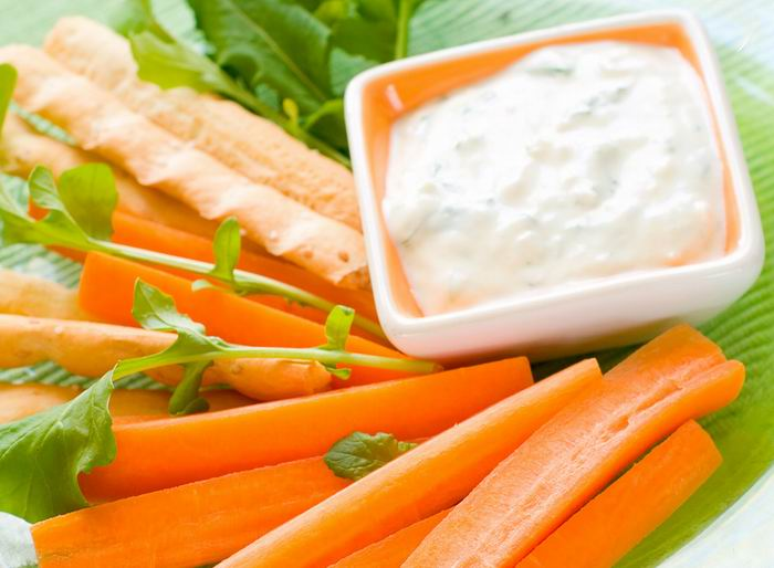 Bastones o palitos de zanahoria