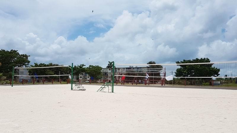 Cancha de volibol de playa en Nuevitas