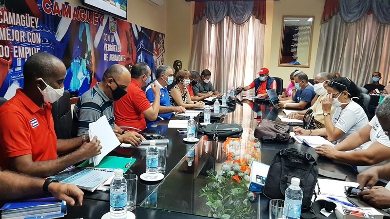 Intercambio con Consejo dirección Sectorial Deportes Camagüey Foto Miozotis Fabelo Pinares.
