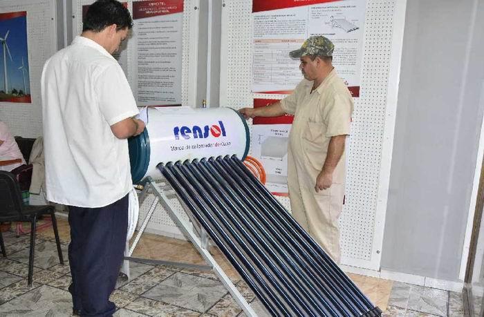 Buena aceptación en venta de calentadores solares en Ciego de Ávila