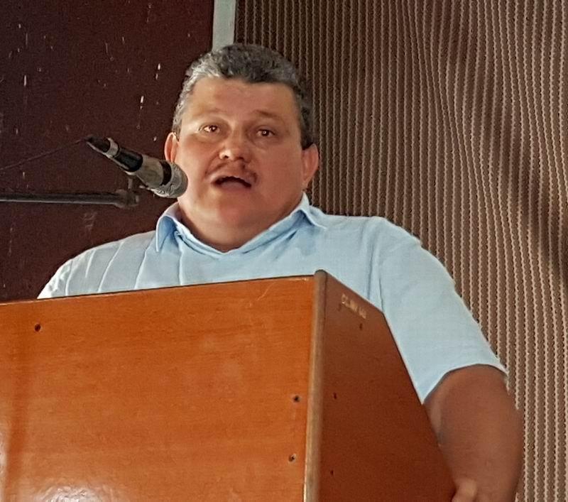 Miembro del Comité Central del Partido Comunista de Cuba, (PCC), y Presidente nacional de la ANAP, Rafael Santiesteban Pozo