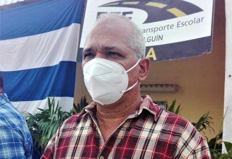 Fermín Umpierre Iraola, secretario general del Sindicato Nacional de los Trabajadores del Transporte