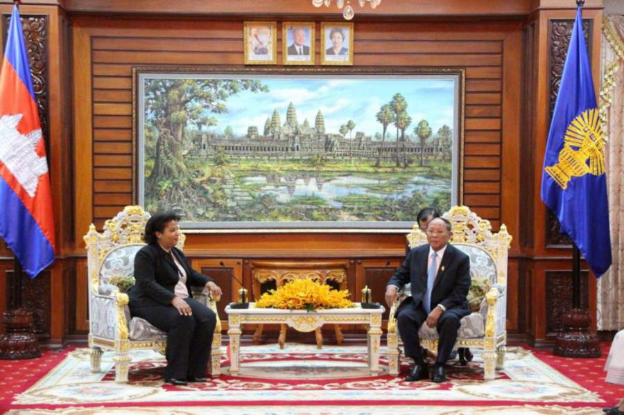 President of the Cambodian parliament receives Cuban ambassador