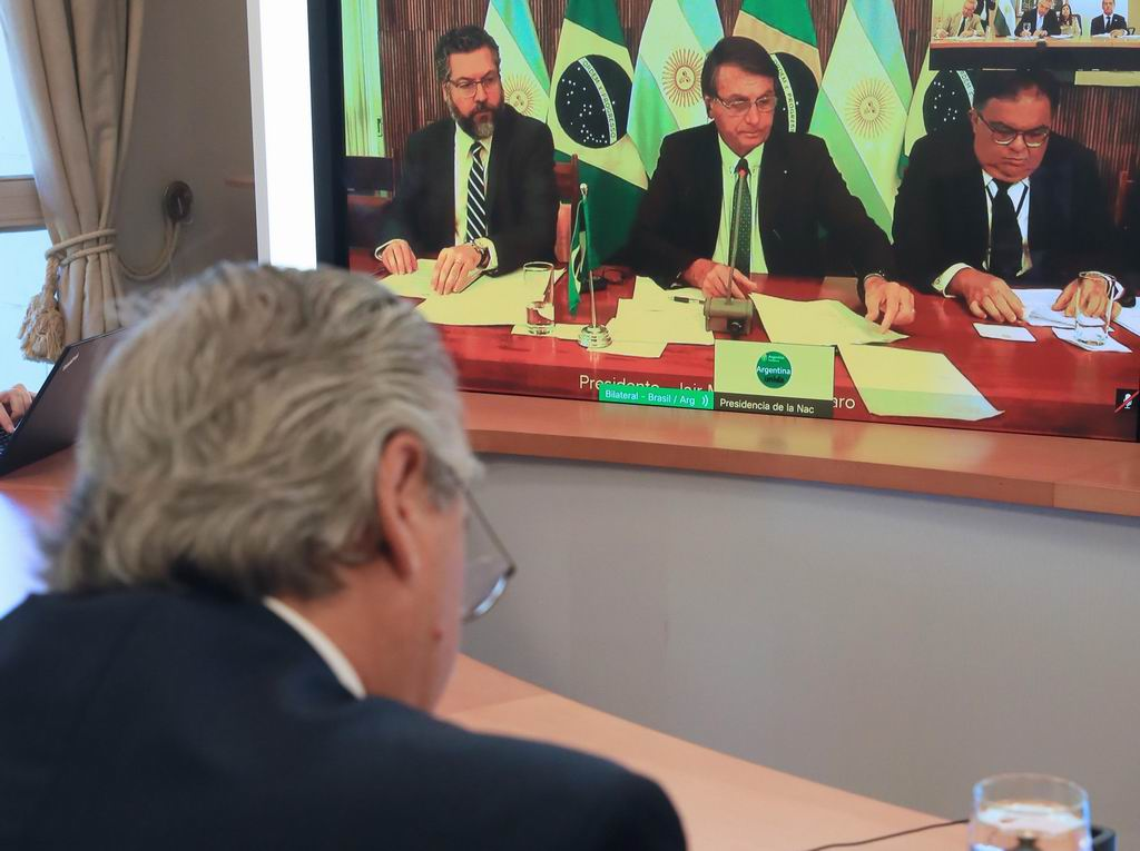 Presidente argentino aboga por impulsar Mercosur ante Bolsonaro