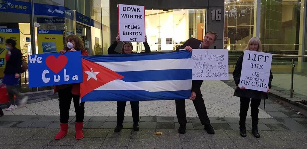 Australianos impulsan campaña en apoyo a Cuba