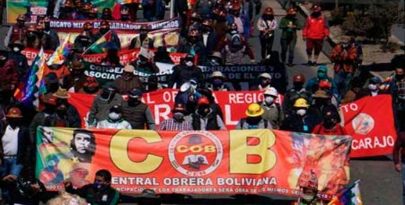 Bolivian worker confederation calls strike for postponement of elections