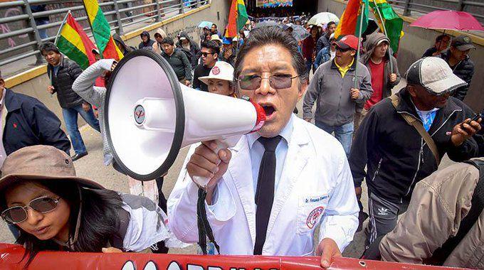 Las protestas de maestros y médicos en Bolivia
