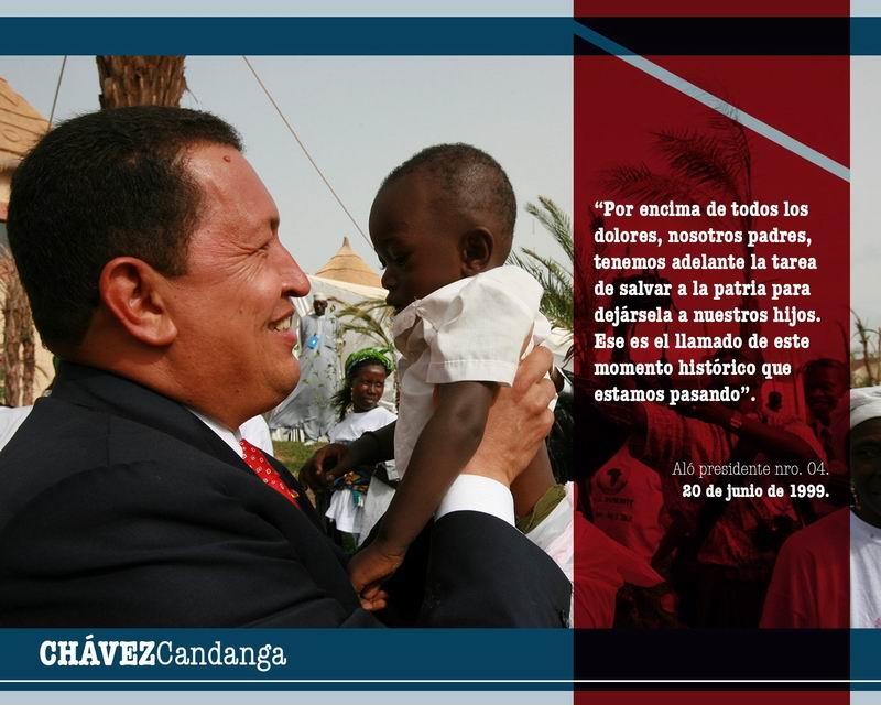 Chávez no se va, se queda en su bravo pueblo