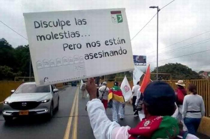 Marcha por la dignidad llega a la capital colombiana