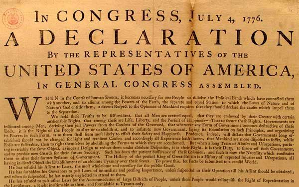 La Declaración de Independencia de los Estados Unidos (+Audio)
