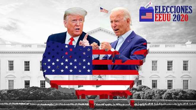 ¿Biden o  Trump? Por ver si emerge en las próximas horas un presidente